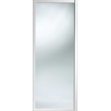 "Shaker Sliding Wardrobe Door 914mm (36"") White Mirror Door"